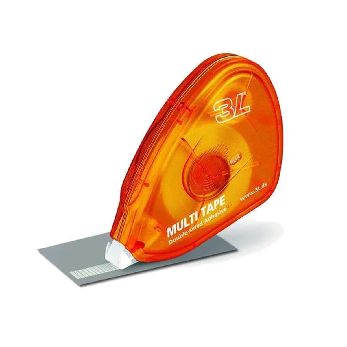 Fita Adesiva Dupla Face com Aplicador 10 Metros - Multi Tape Caixa com 20 unidades