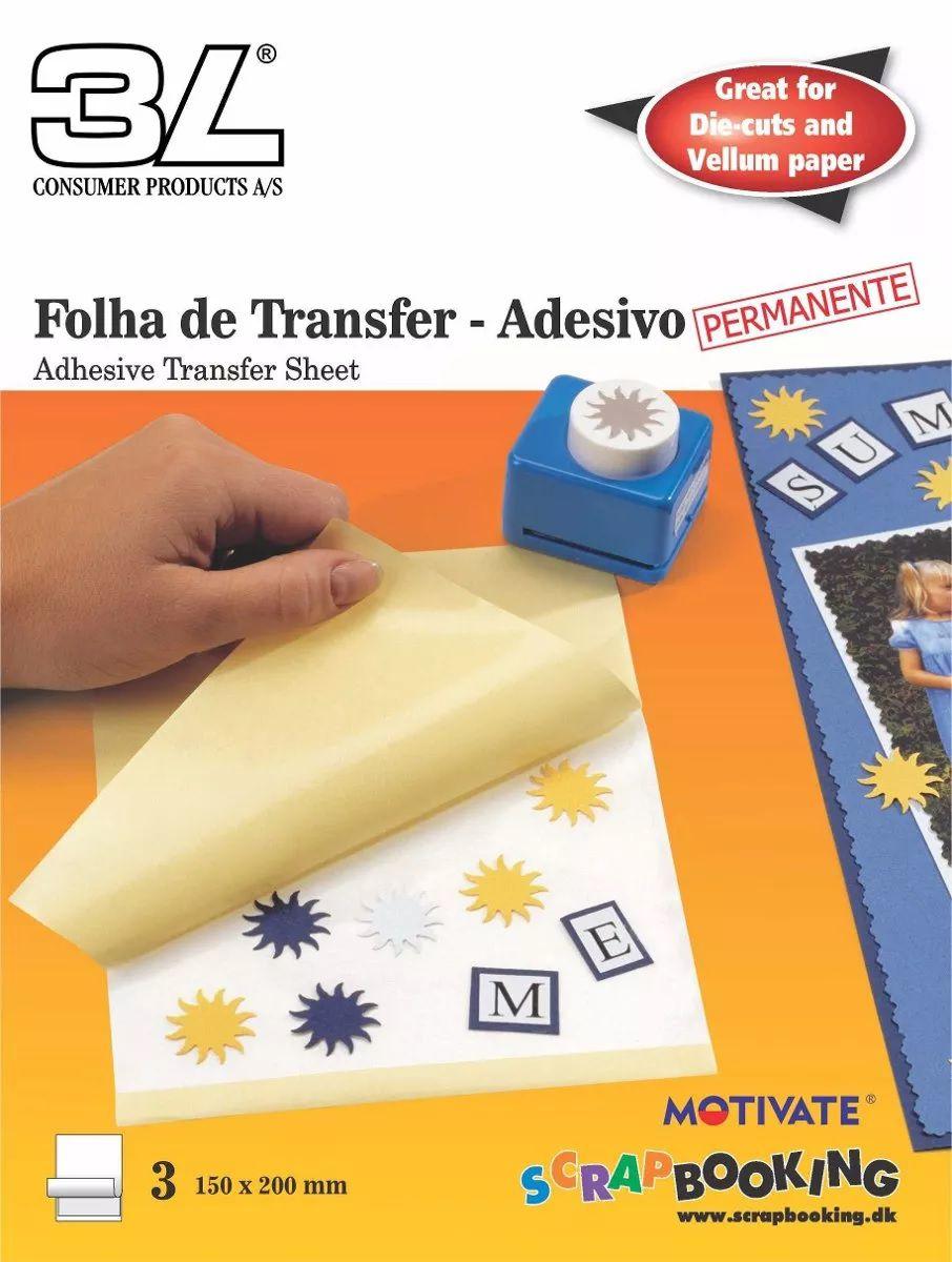 Folha de Transfer Adesivo - Caixa com 100 Unidades