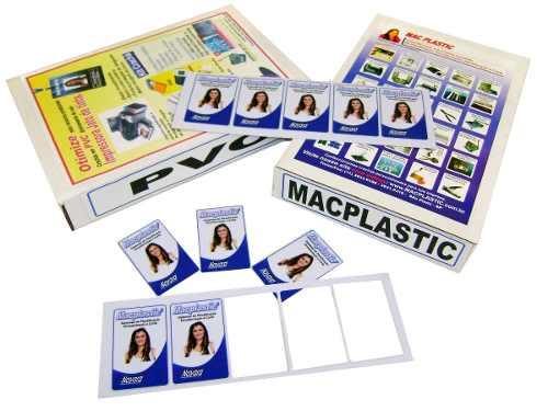Placa de PVC Imprimivel para Crachá, Cartão, Cardápio 50un