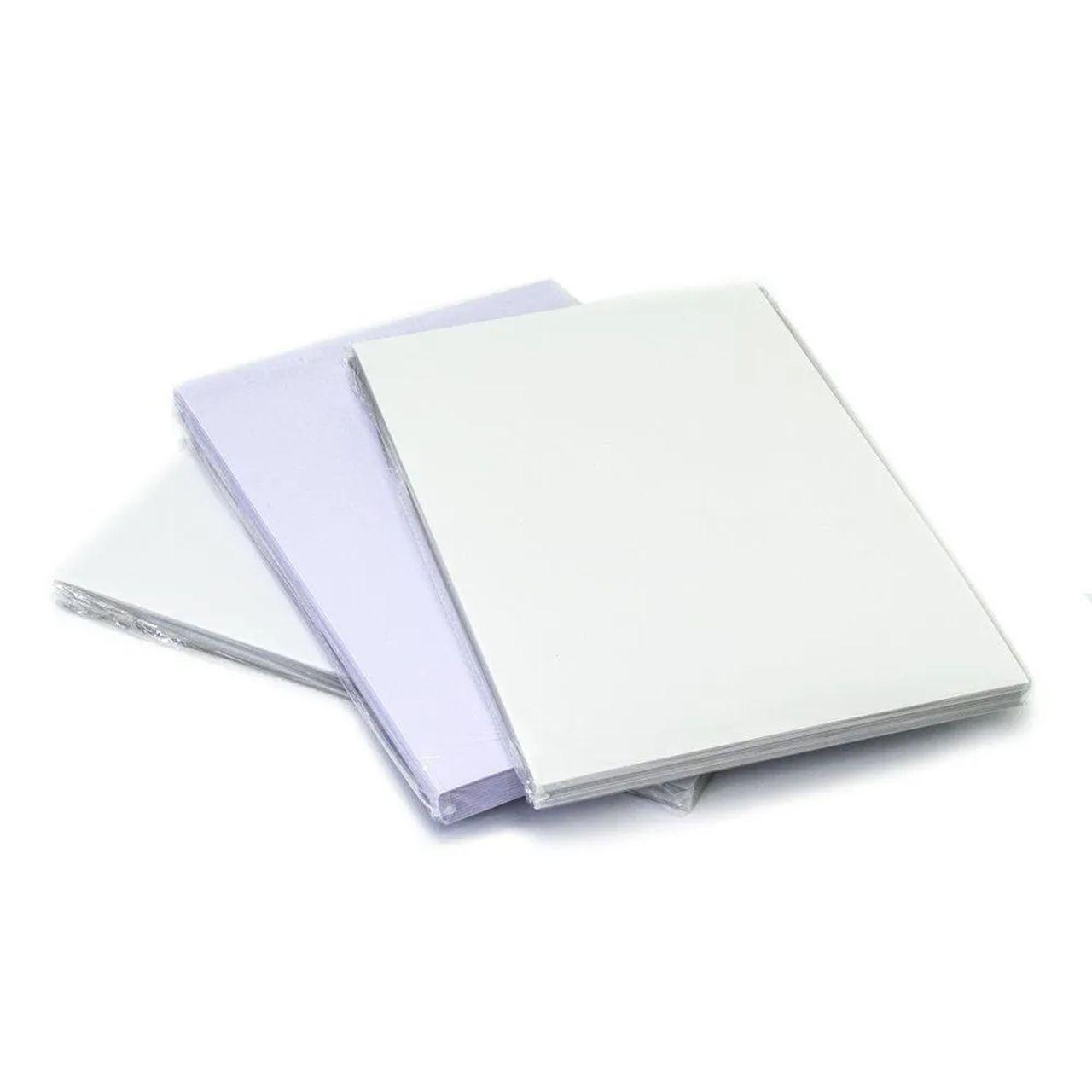 Folhas Imprimíveis para Placas de PVC, Crachá, Cardápio - 100 Unidades