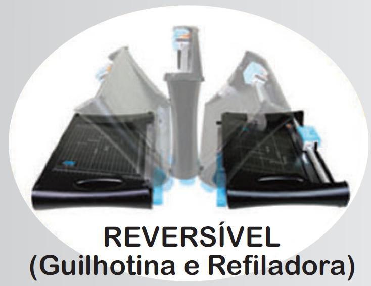 Guilhotina e Refiladora A4 - 5x1 com Função Canteadeira