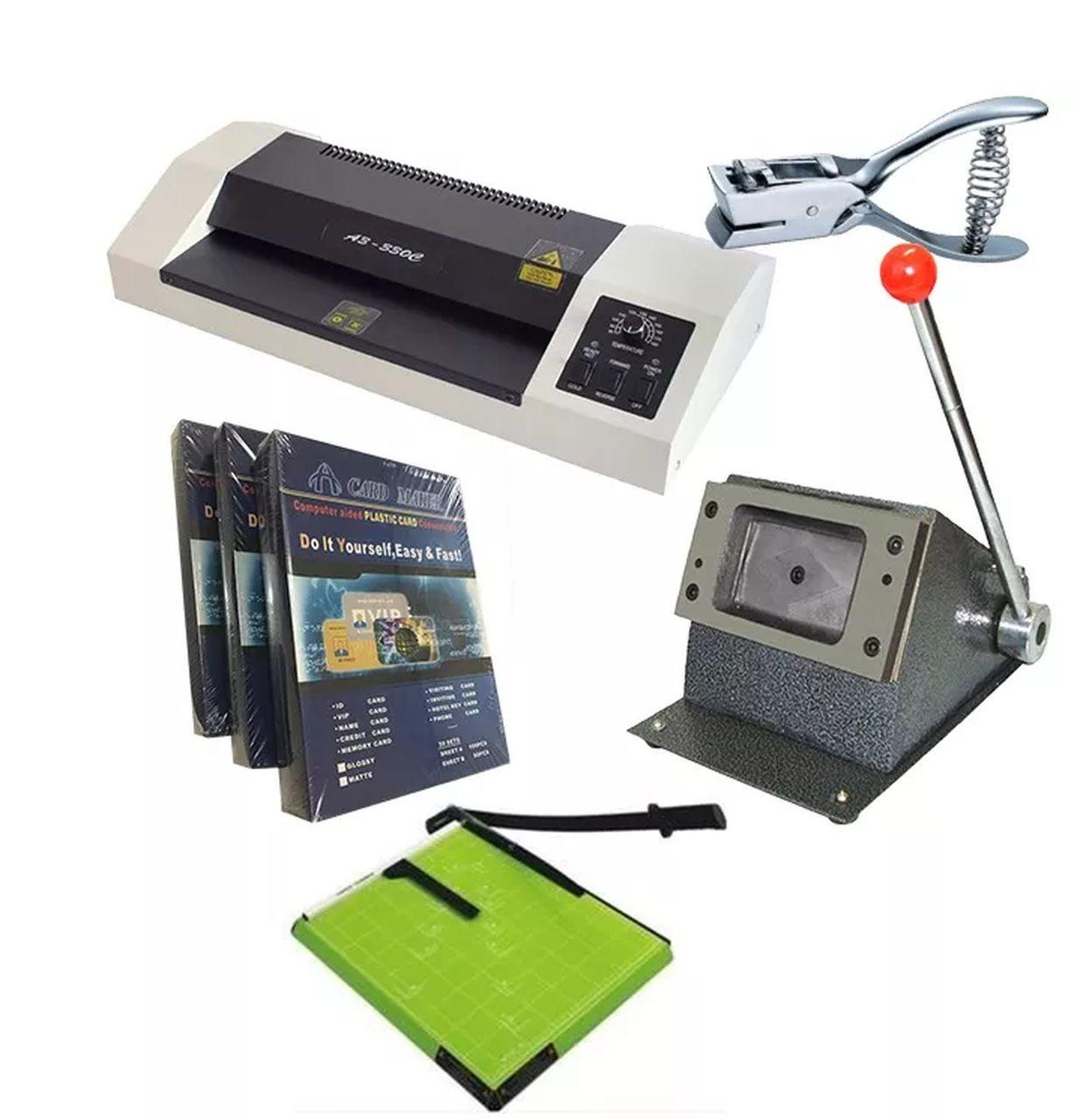 Kit Completo Para Produção De Crachás Cartão Cardápios