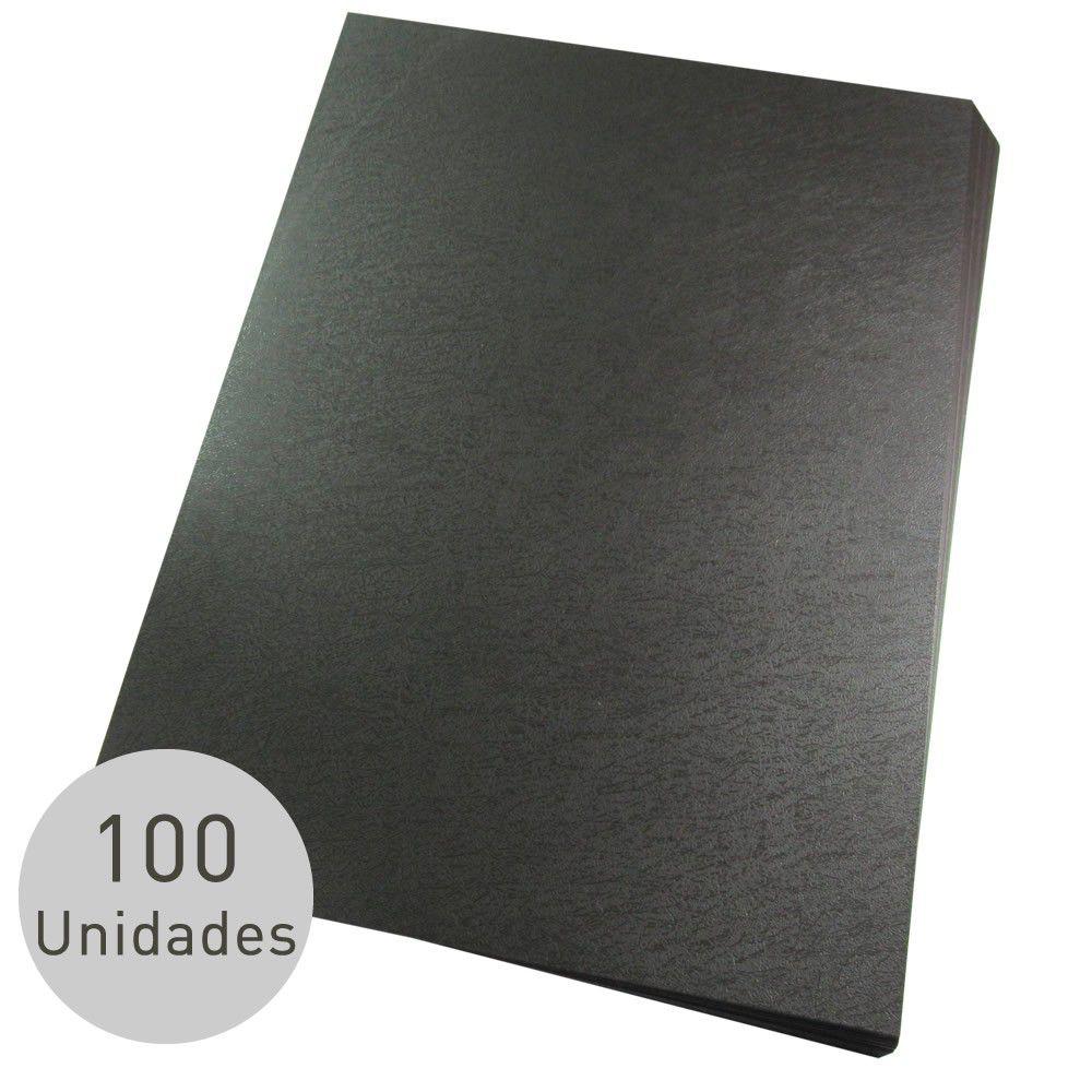 Kit Encadernação 200 Capas A4 + 500 Espirais Pretos
