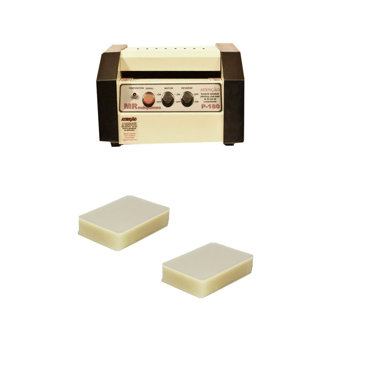 Kit Plastificadora P-180 + 200 Polaseal(crachá)