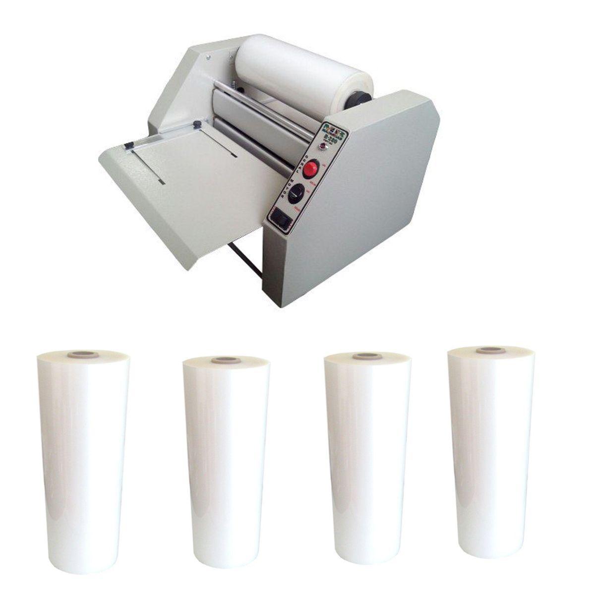 Kit Plastificadora R-280 + 4 Bobinas Polaseal (A4/Ofício)