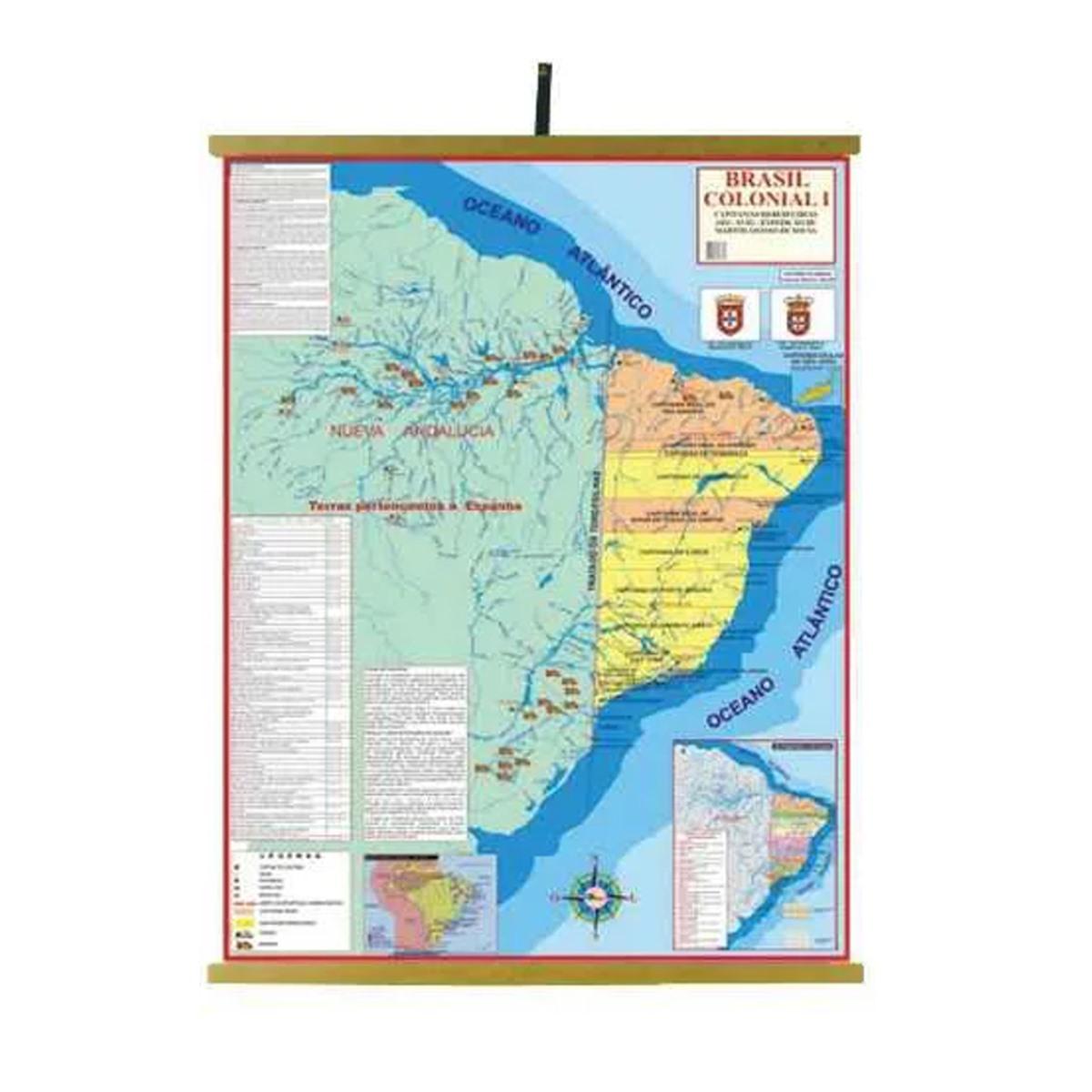 Mapas Educativos - Brasil Colonial I 1200x900mm