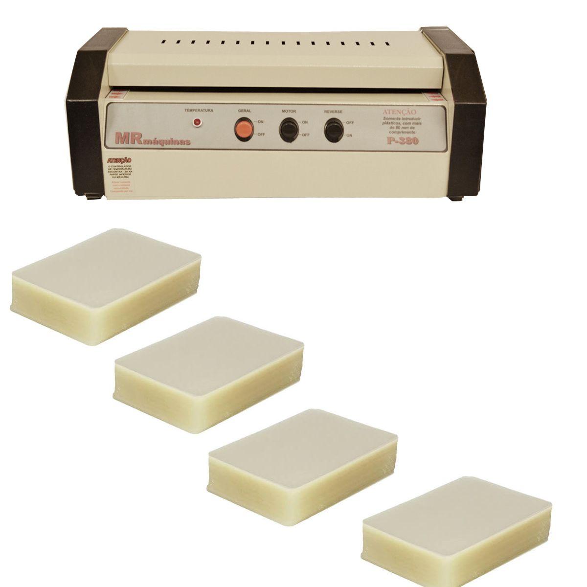 Maquina de Plastificação PS-380 com 200 Polaseal A3