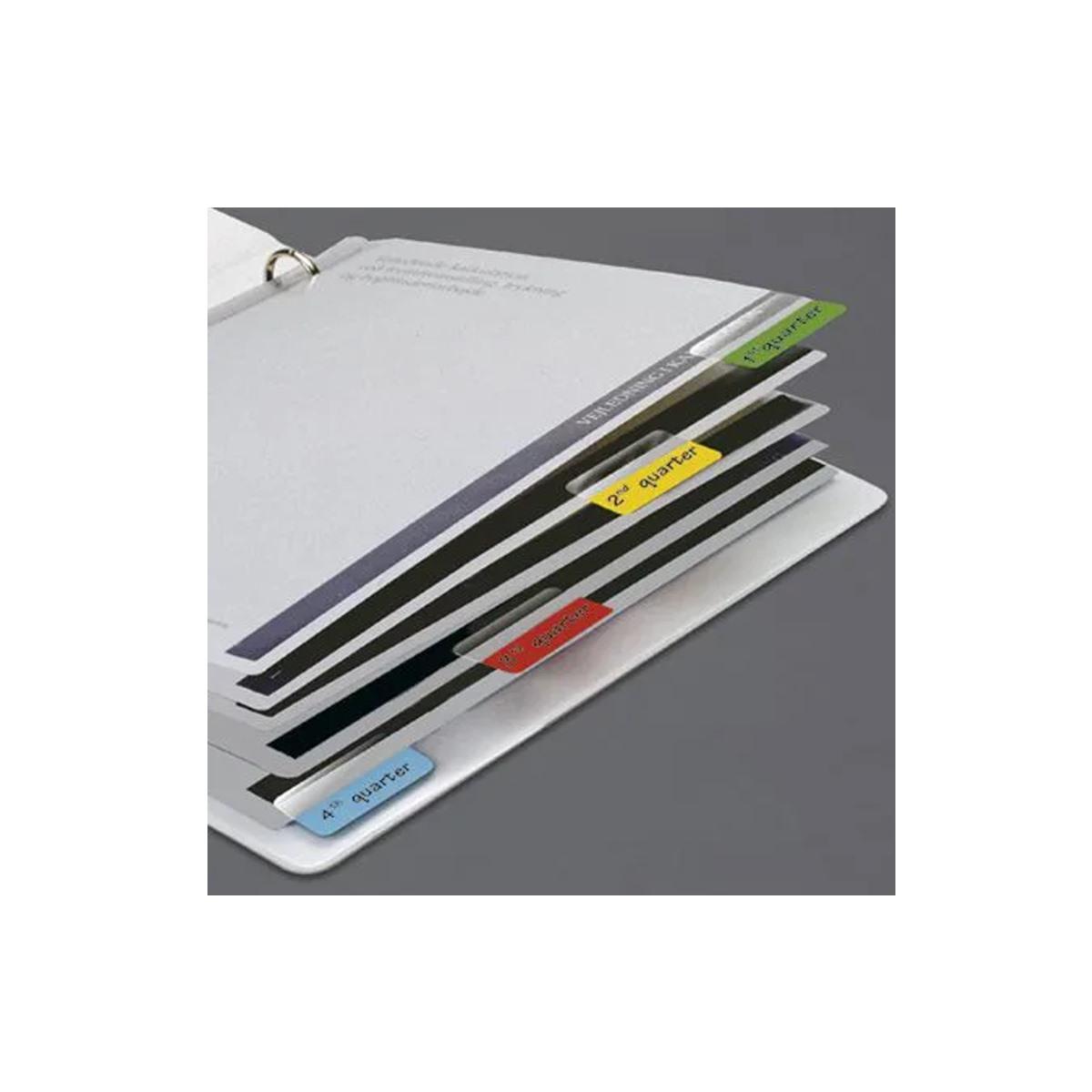 Marcador Páginas Index Tabs Bilateral Colorido Caixa Com 10 Blisters