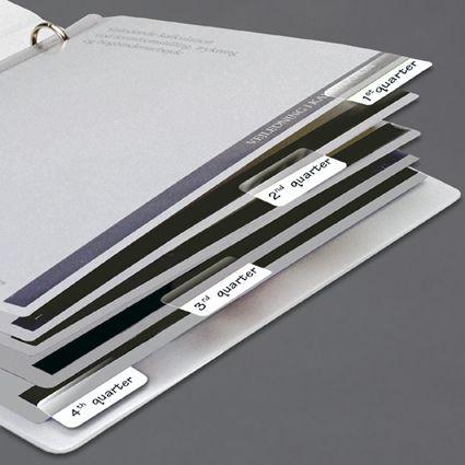 Marcador Páginas Index Tabs Branco Caixa 10 Blisters 48 Cada