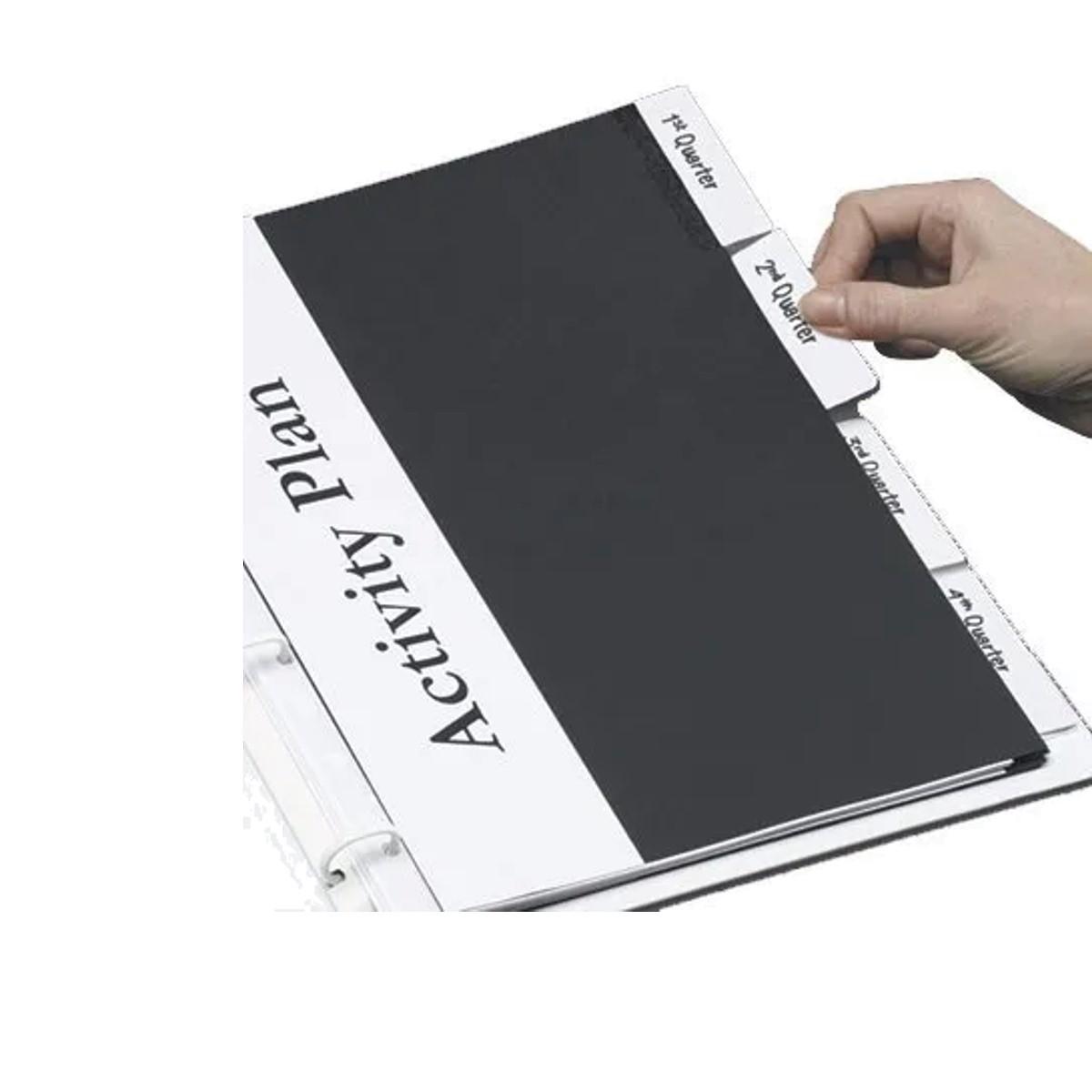 Marcador Páginas Index Tabs Impresso Branco 0 - 31 72 Unds