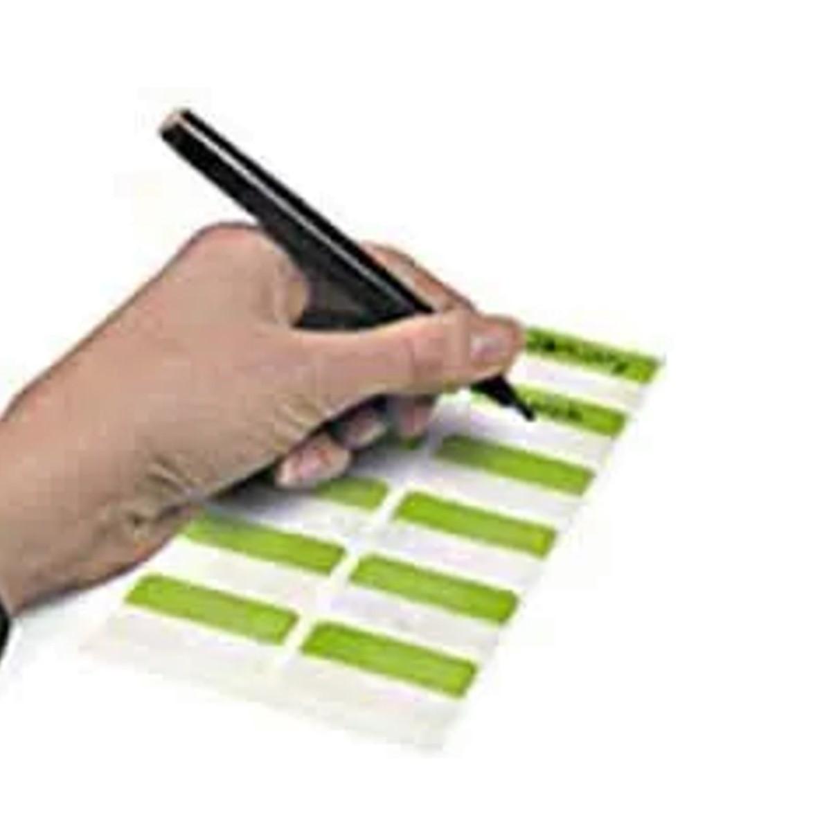 Marcador Páginas Index Tabs Impresso Branco A - Z Caixa com 10 Blisters