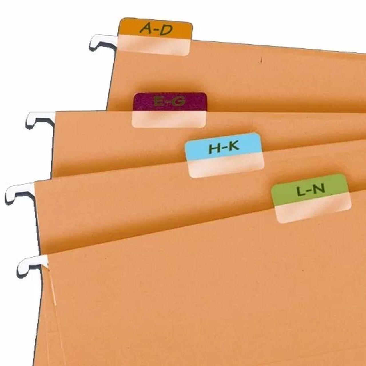 Marcador Páginas Index Tabs Impresso Branco de A-Z com 72 Unidades