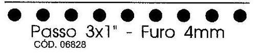 Pente para Encadernadora El20 - 3x1 Furo Redondo 4mm