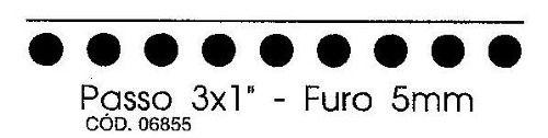 Pente para Encadernadora El20 3x1 Furo Redondo 5mm