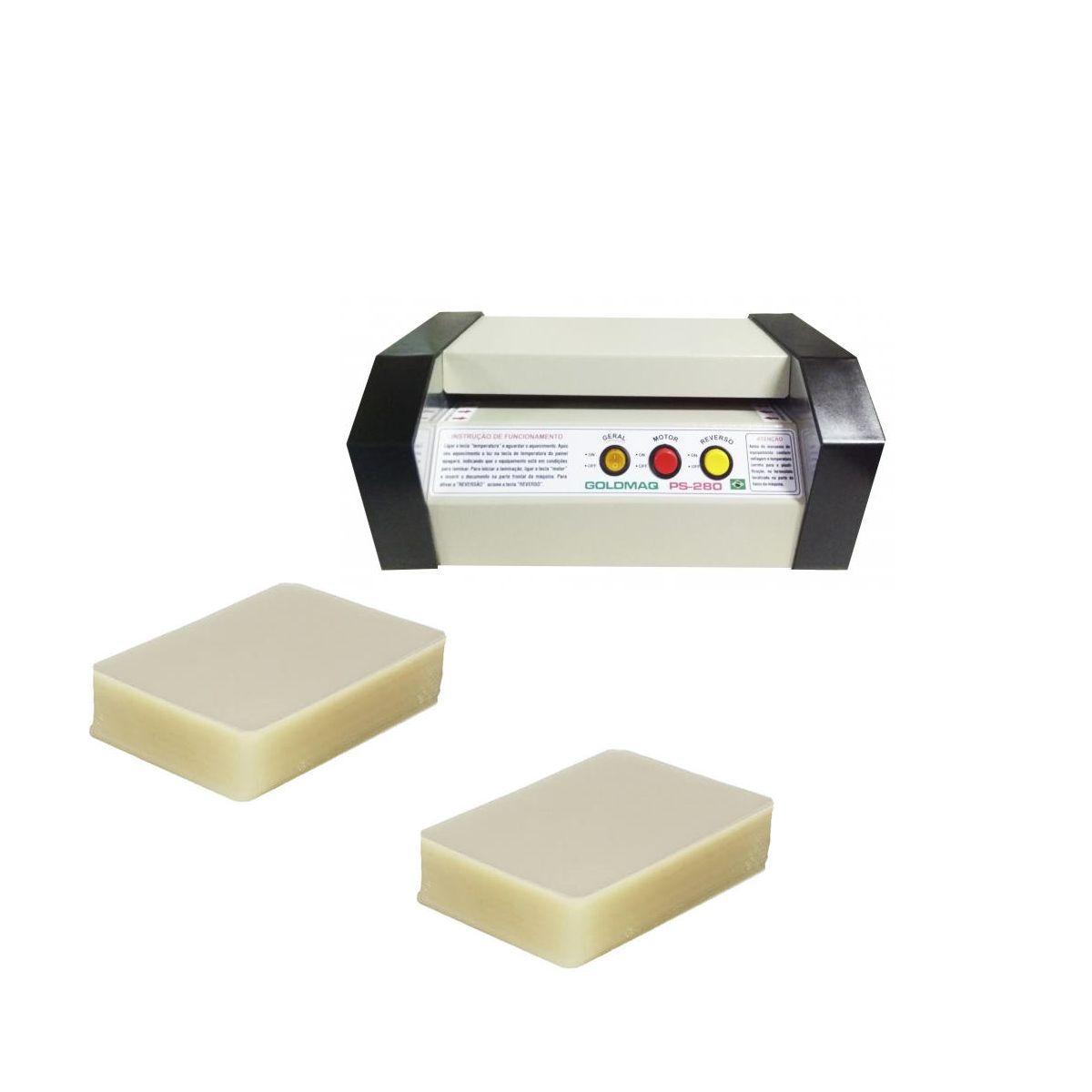 Plastificadora Ps-280 + 200 Polaseal Rg e Crachá