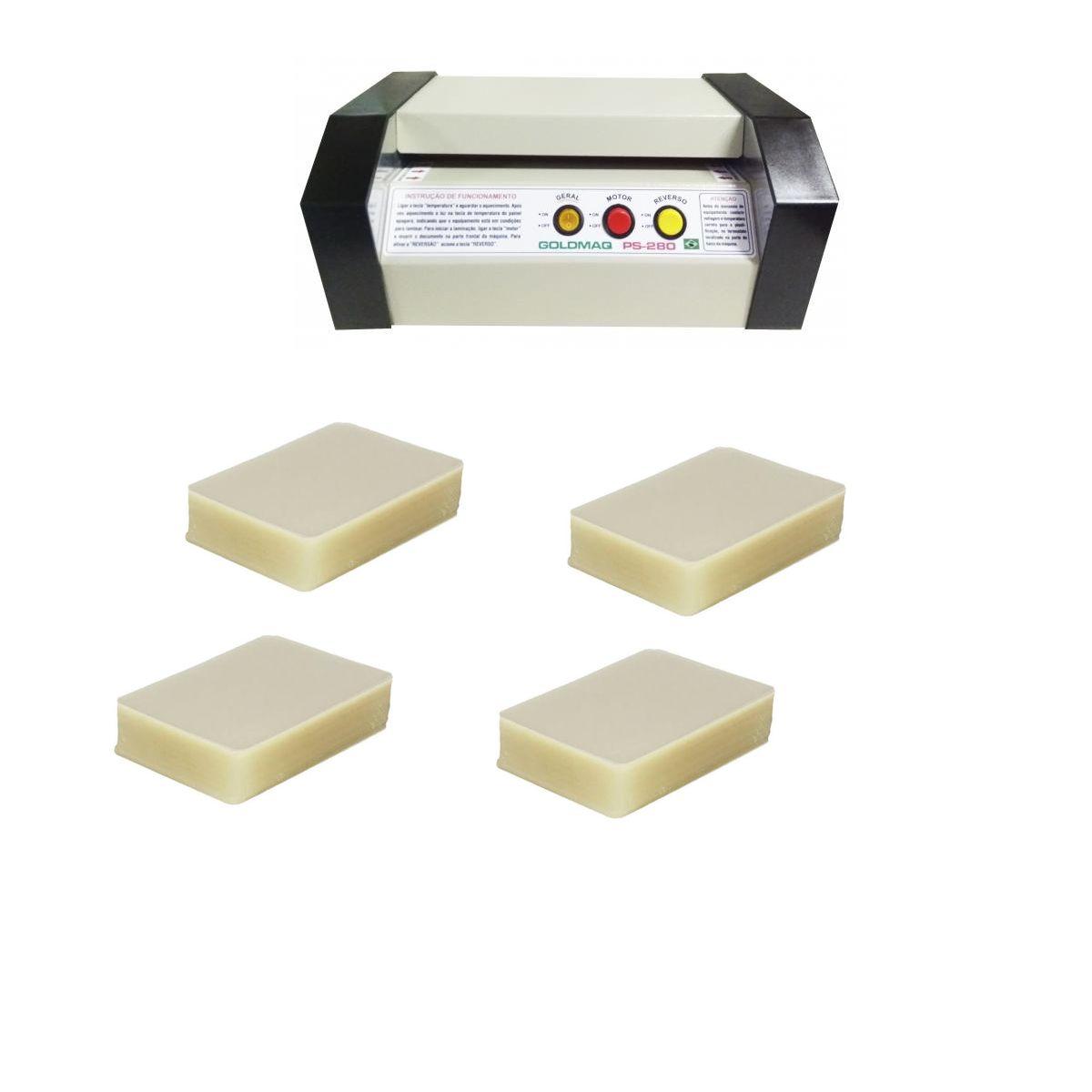 Plastificadora PS-280 + 400 Polaseal (RG,Título,CPF,Crachá)