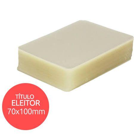 Polaseal plástico para plastificação Título Eleitor 70x100 0,05mm 100un