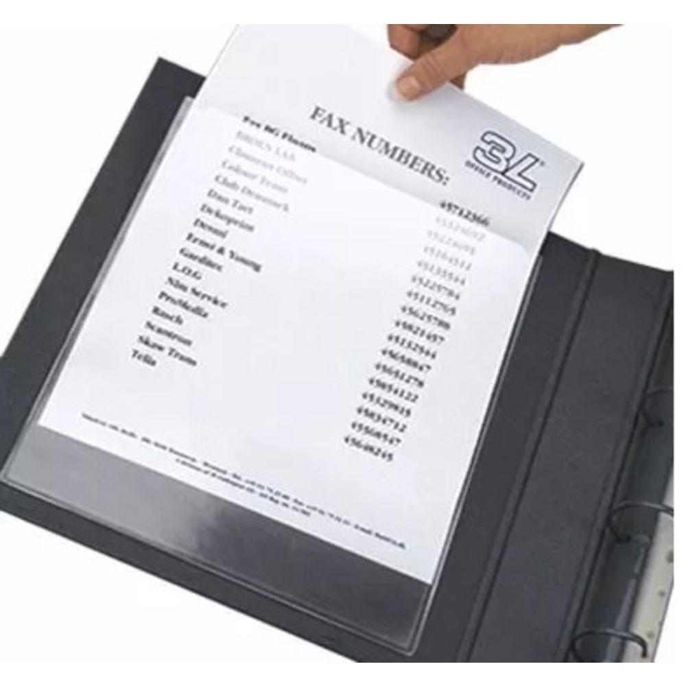 Porta Documentos Bolsas Auto Adesivas Porta Arquivos Maxi A4 50 unidades