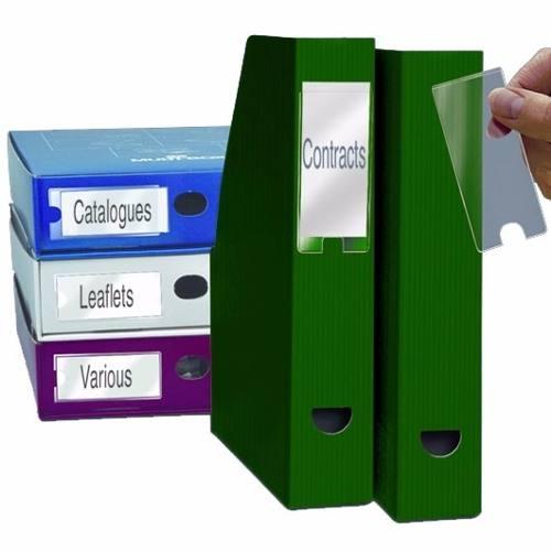 Porta Etiquetas Auto Adesivo 20x150mm - Caixa com 100 Unds