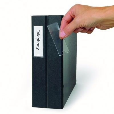 Porta Etiquetas Auto Adesivo Transparente - Caixa 200 Unidades