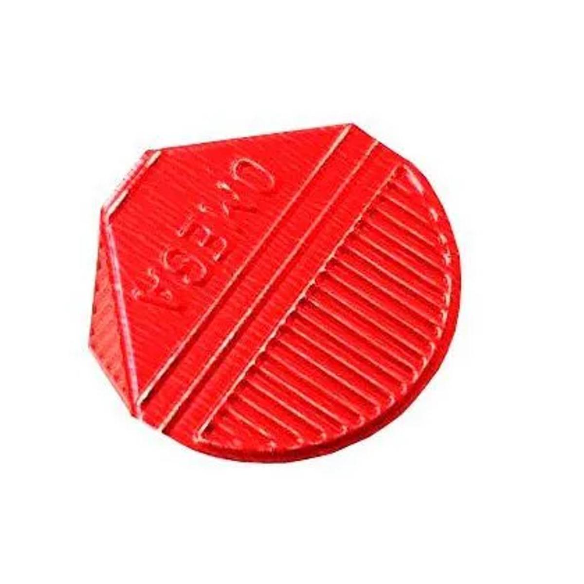 Prendedor de  Papel Presclip Omega - Caixa 1000 Unds Vermelho