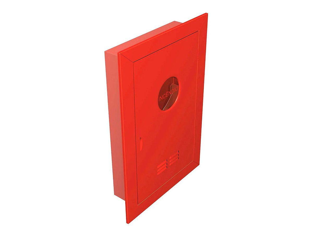 Abrigo para Mangueira de Incêndio de Embutir 75x45x17cm  - Panela de Ferro Fundido