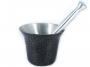 Almofariz Alumínio Polido Craqueado Socador de Alho Grande  - Panela de Ferro Fundido