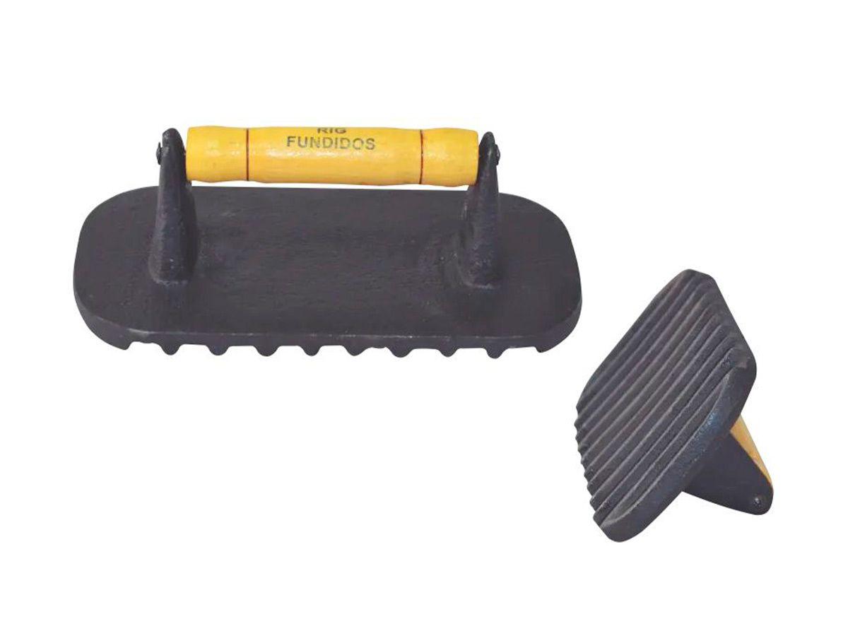 Amassador de Bife Grande de Ferro Fundido 12x8cm RIG  - Panela de Ferro Fundido