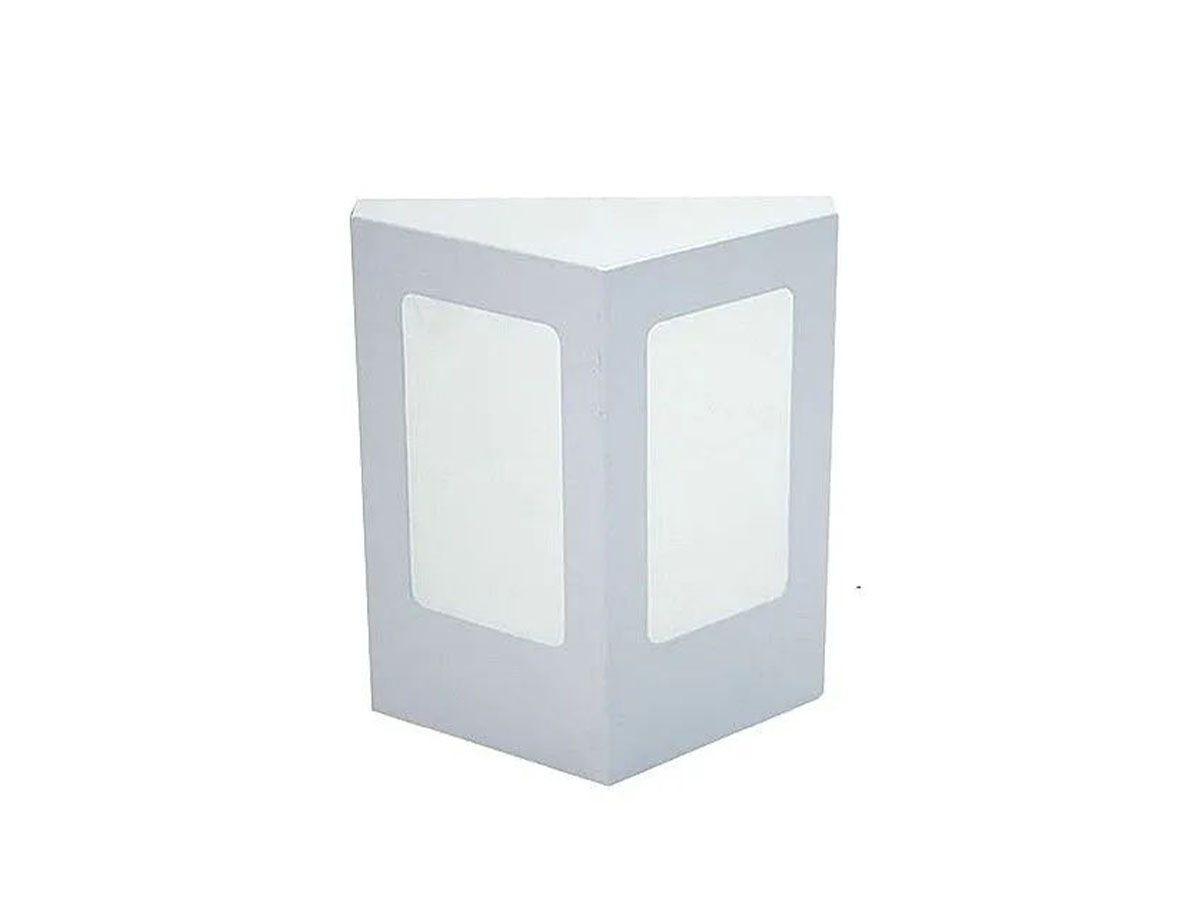 Arandela Externa Interna Topázio de Parede Alumínio e Vidro