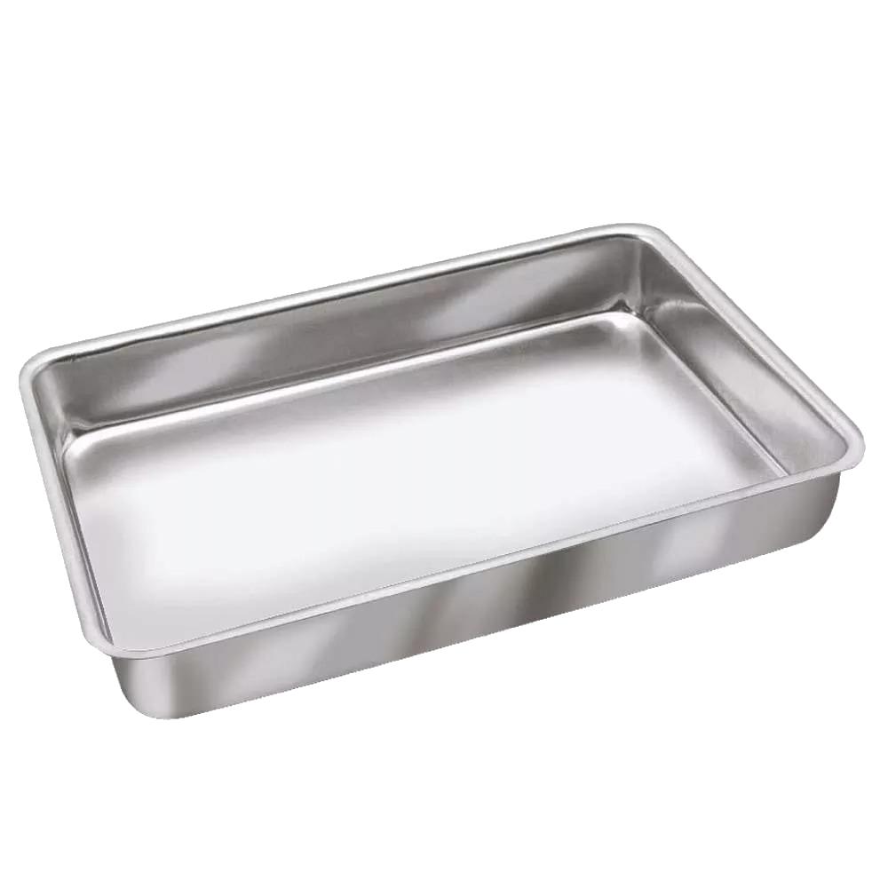 Assadeira Alta de Alumínio Continental Nº4 (38x27x4,5cm)