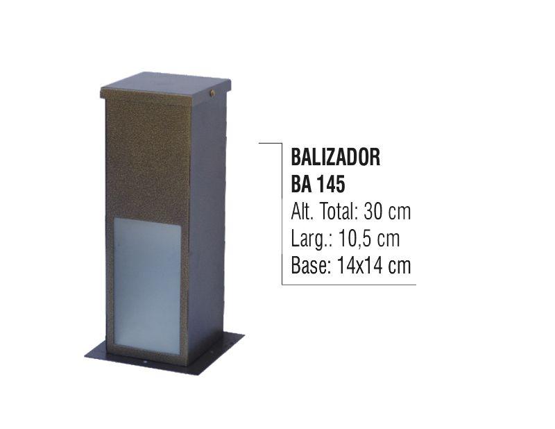 Balizador Colonial para Jardim em Tubo de Alumínio N02 30cm  - Panela de Ferro Fundido