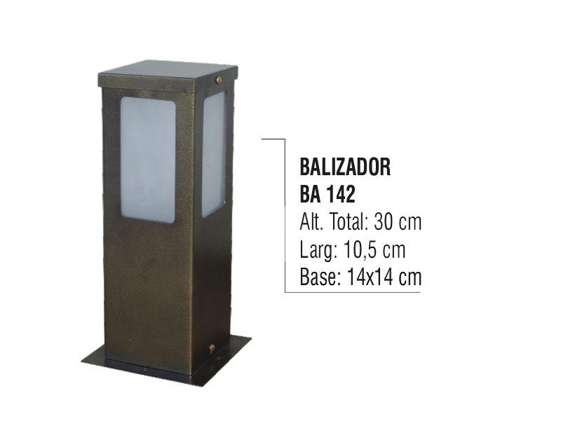 Balizador Colonial para Jardim em Tubo de Alumínio N03 30cm  - Panela de Ferro Fundido