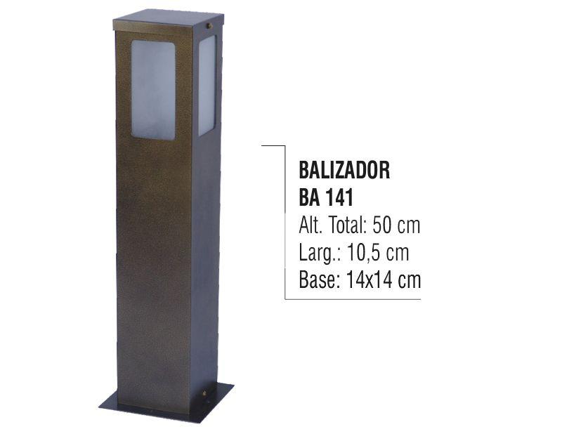 Balizador Colonial Super para Jardim Tubo de Alumínio 50cm  - Panela de Ferro Fundido