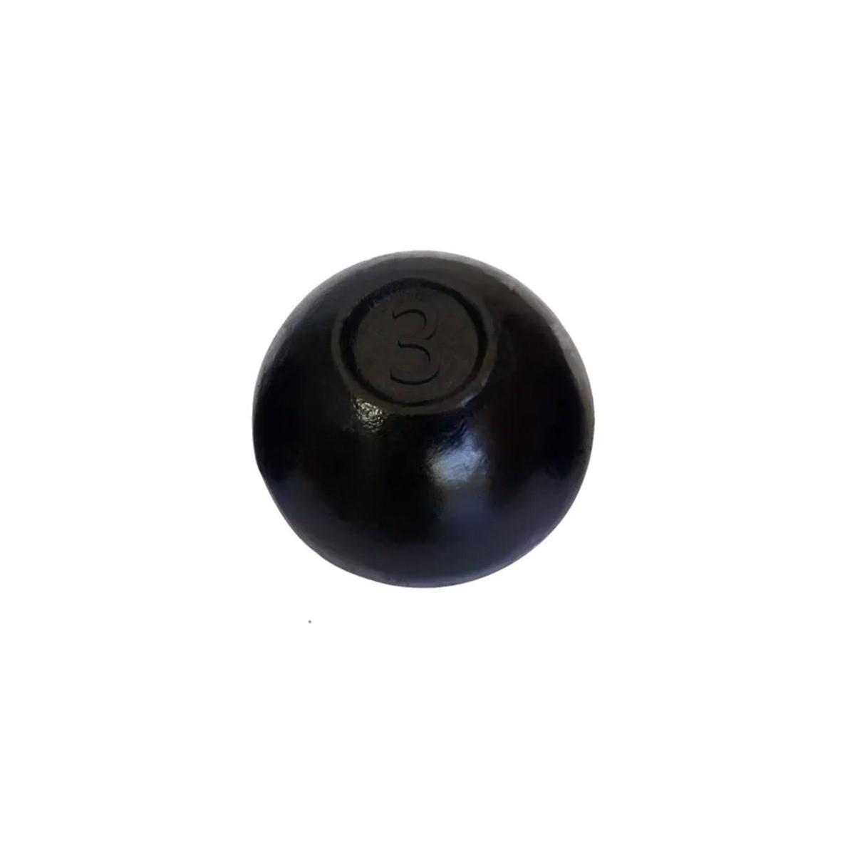 Bola de Arremesso Ferro Fundido Treinamento Funcional 3Kg  - Panela de Ferro Fundido