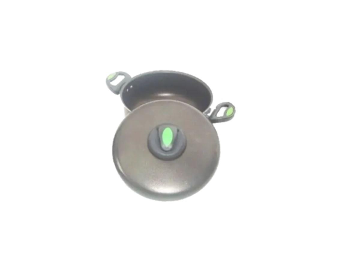 Caçarola  Antiaderente de Teflon Nobre 4,2 Litros com  Alça  - Panela de Ferro Fundido