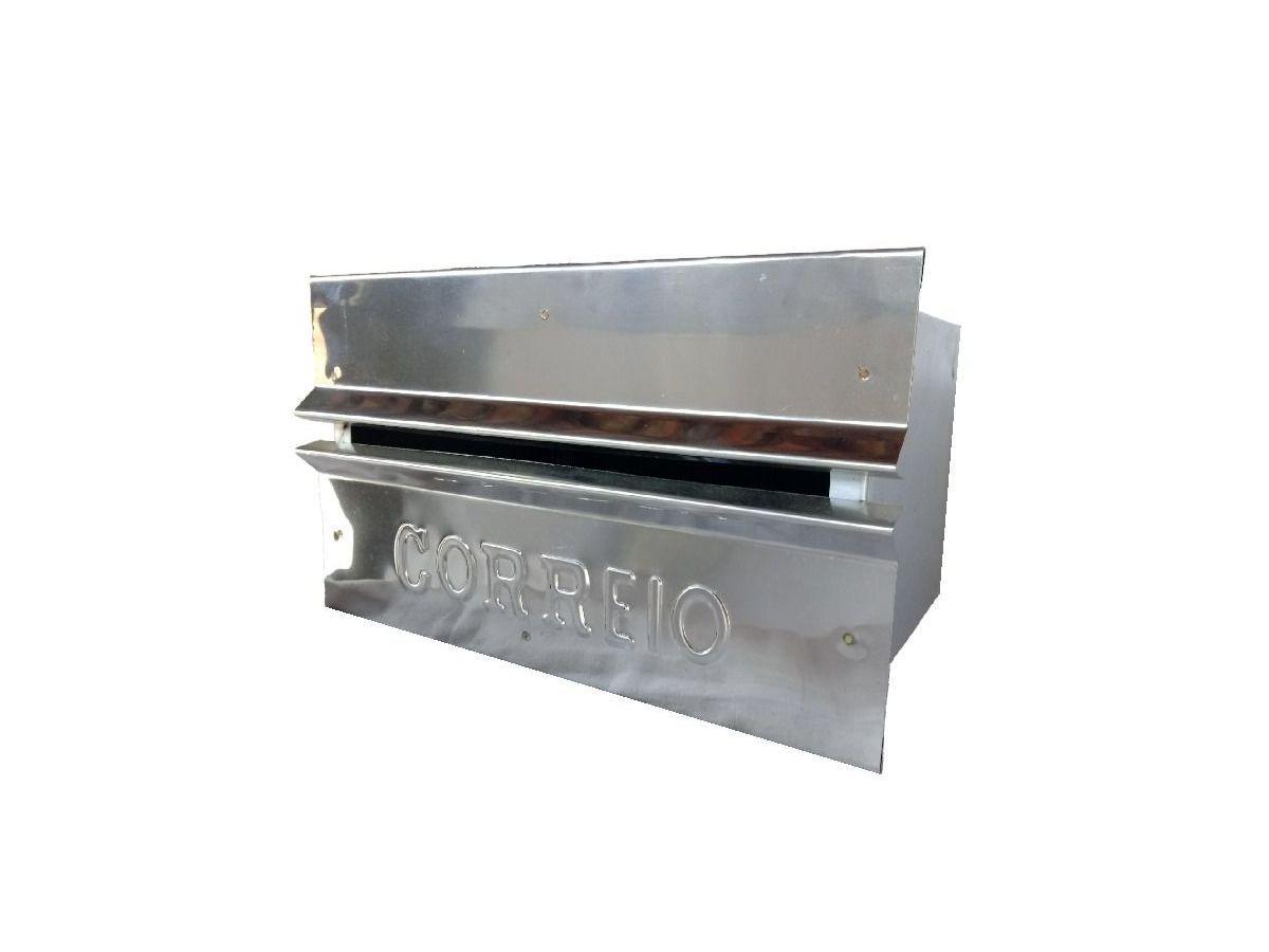 Caixa Correio Galvinox Fundo Chapa Frente Inox 15x25x12cm  - Panela de Ferro Fundido
