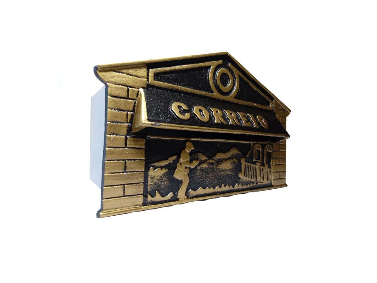 Caixa De Correio Frente Carteiro 15x25x12cm