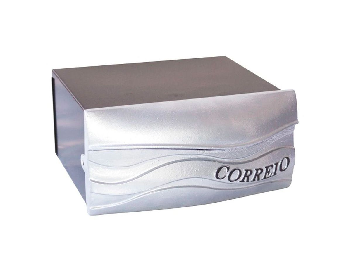 Caixa de Correio Havaii Alumínio Fundido Prata 25x25cm