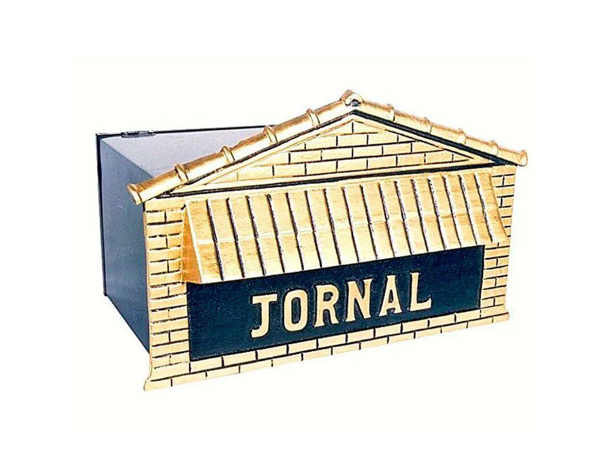 Caixa de Correio Jornal Alumínio e Chapa 40x25cm