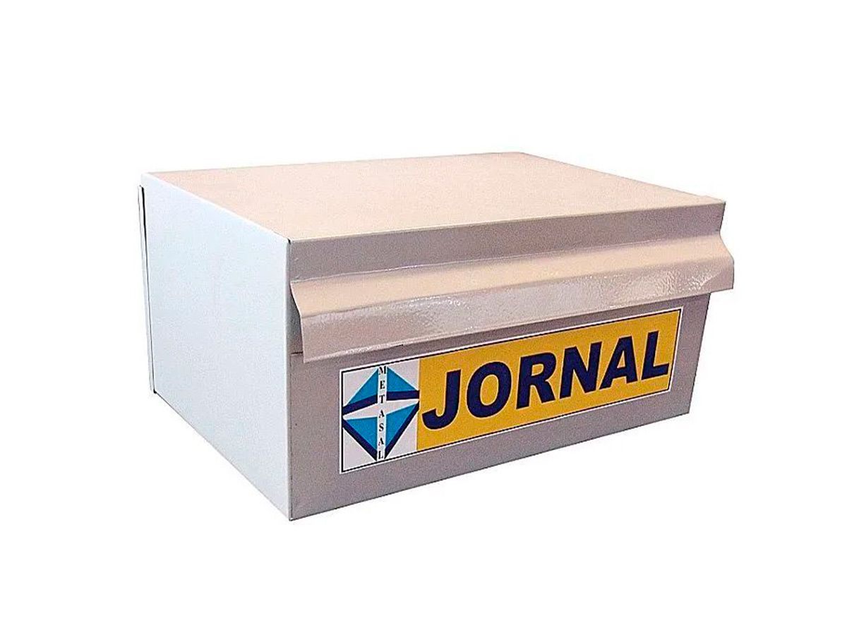 Caixa De Correio Jornal Popular Em Chapa De Aço 40x25cm  - Panela de Ferro Fundido