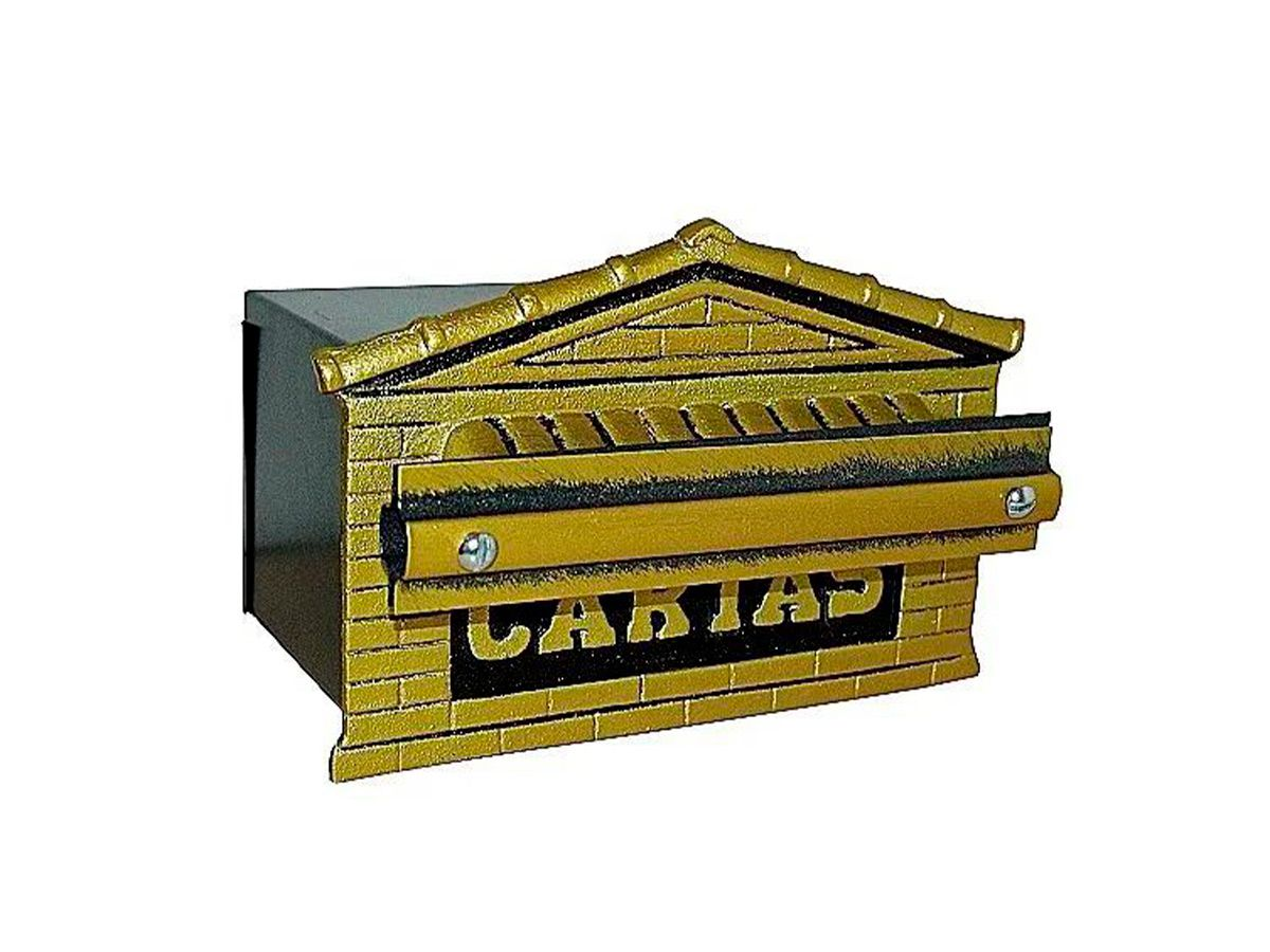 Caixa de Correio Mini Tijolinho Alumínio e Chapa 12x20cm Cs