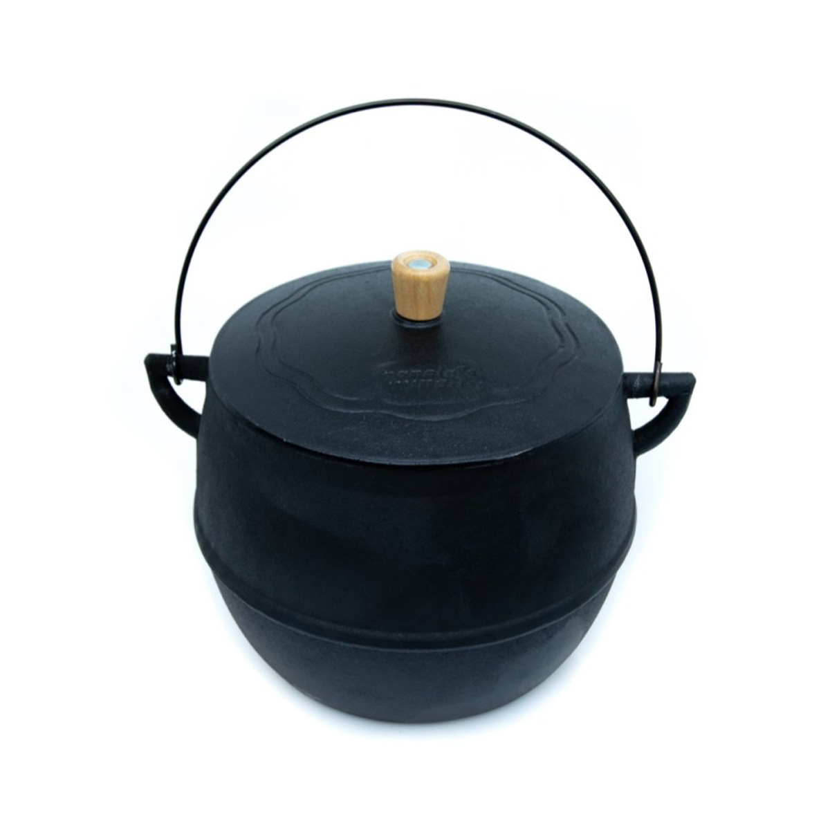 Caldeirão Bojudo 6 litros 21 cm diametro  - Panela de Ferro Fundido