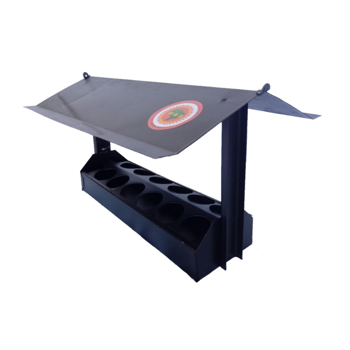 Casinha Para Passarinho Sem Bandeja Preto 30x10cm  - Panela de Ferro Fundido