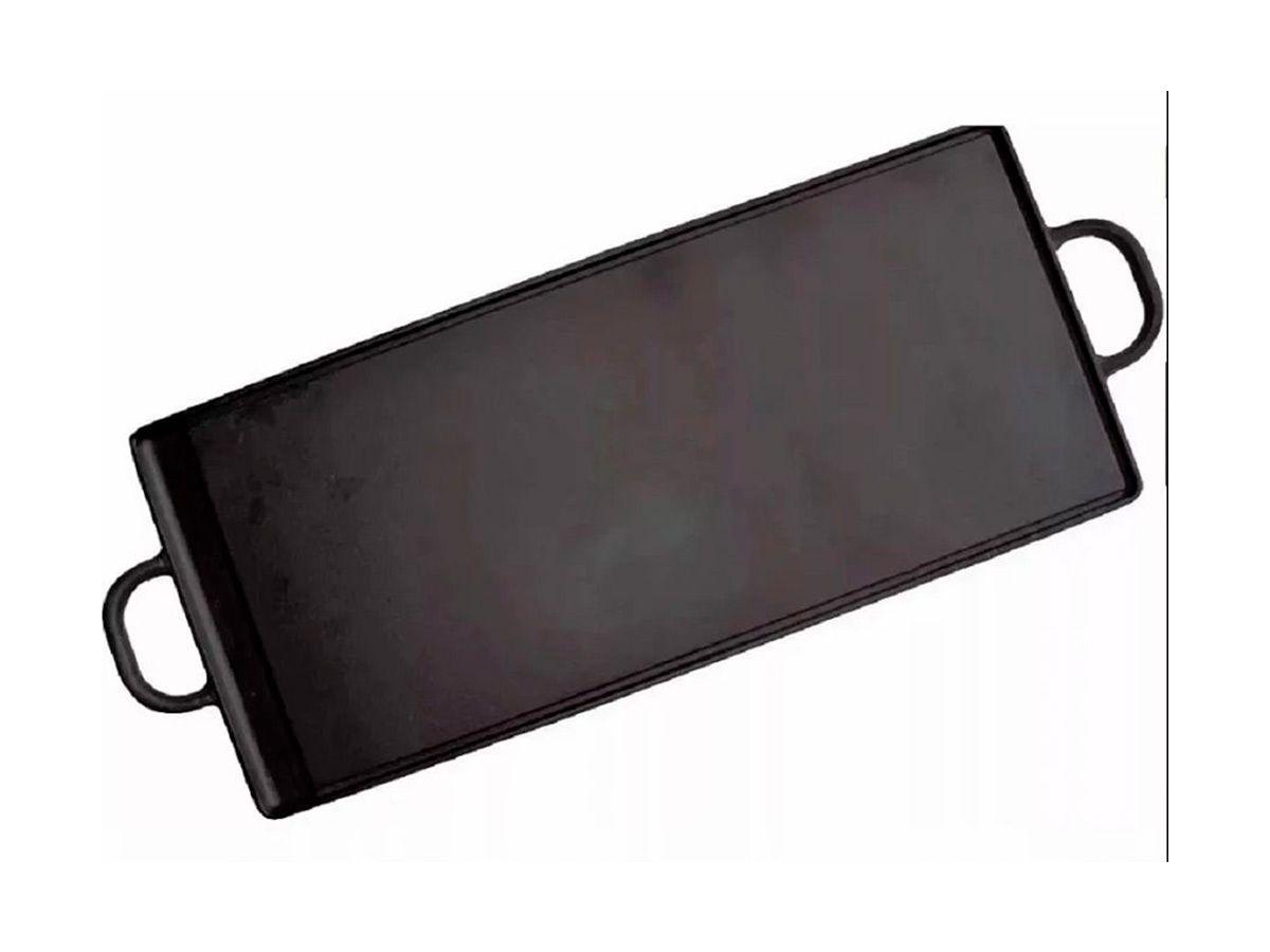 Chapa de Ferro Fundido Com Alças de Ferro - Medidas 40x90cm  - Panela de Ferro Fundido