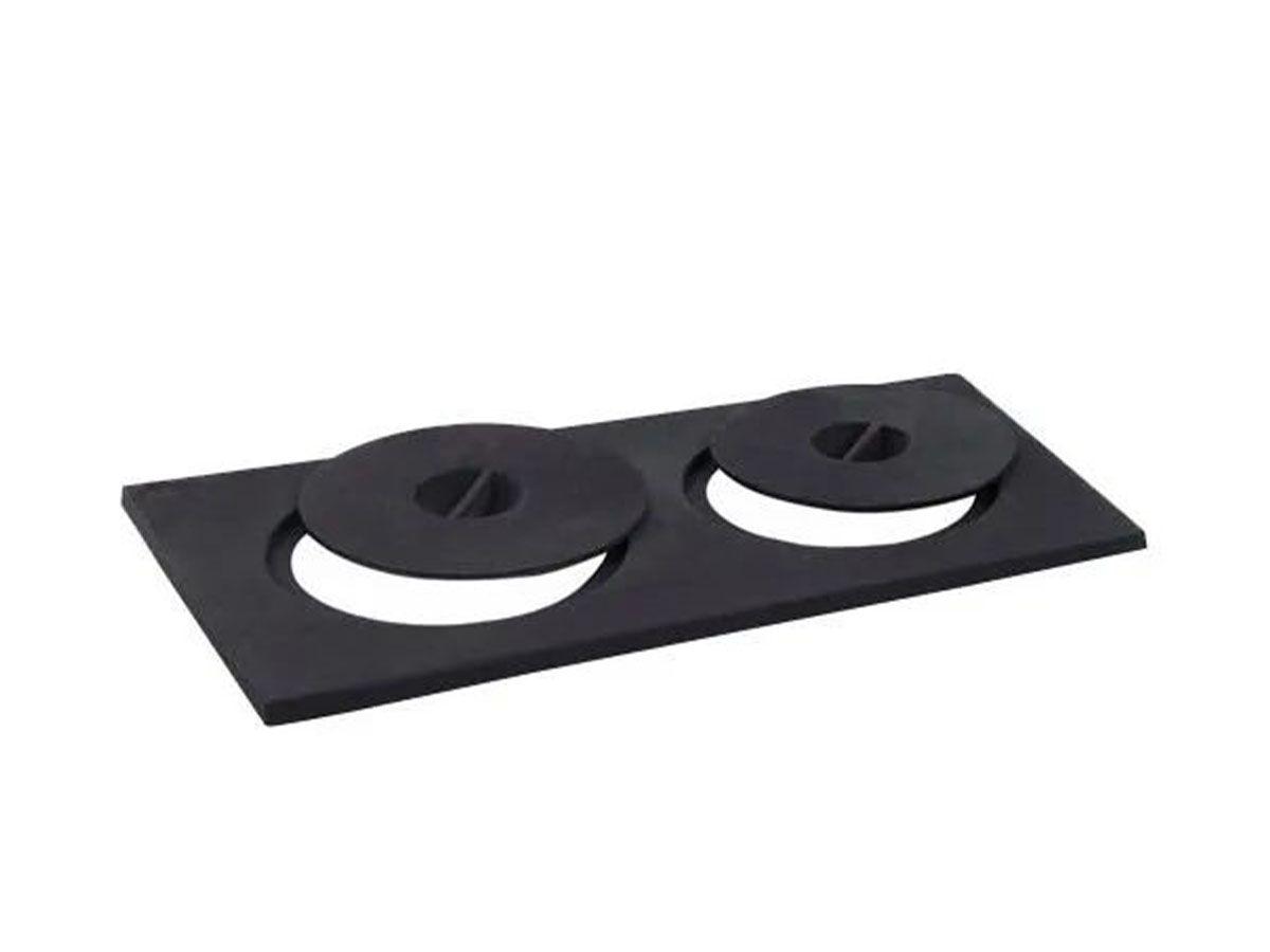 Chapa Fogão A Lenha Libaneza Comum 2 Furos 24x28x48,5cm  - Panela de Ferro Fundido