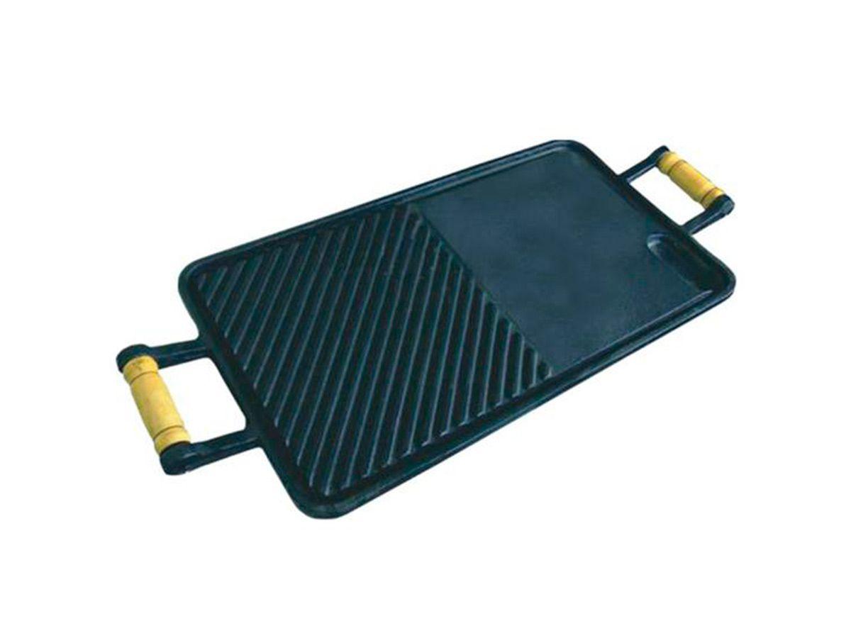 Chapa Lisa/frisada de Ferro Fundido - Medidas 25x45cm  - Panela de Ferro Fundido