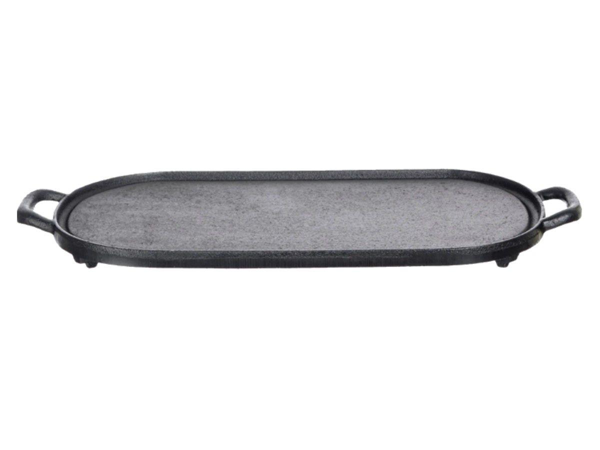 Chapa Oval Lisa De Ferro Alça De Ferro Santana 38x23 Cm  - Panela de Ferro Fundido