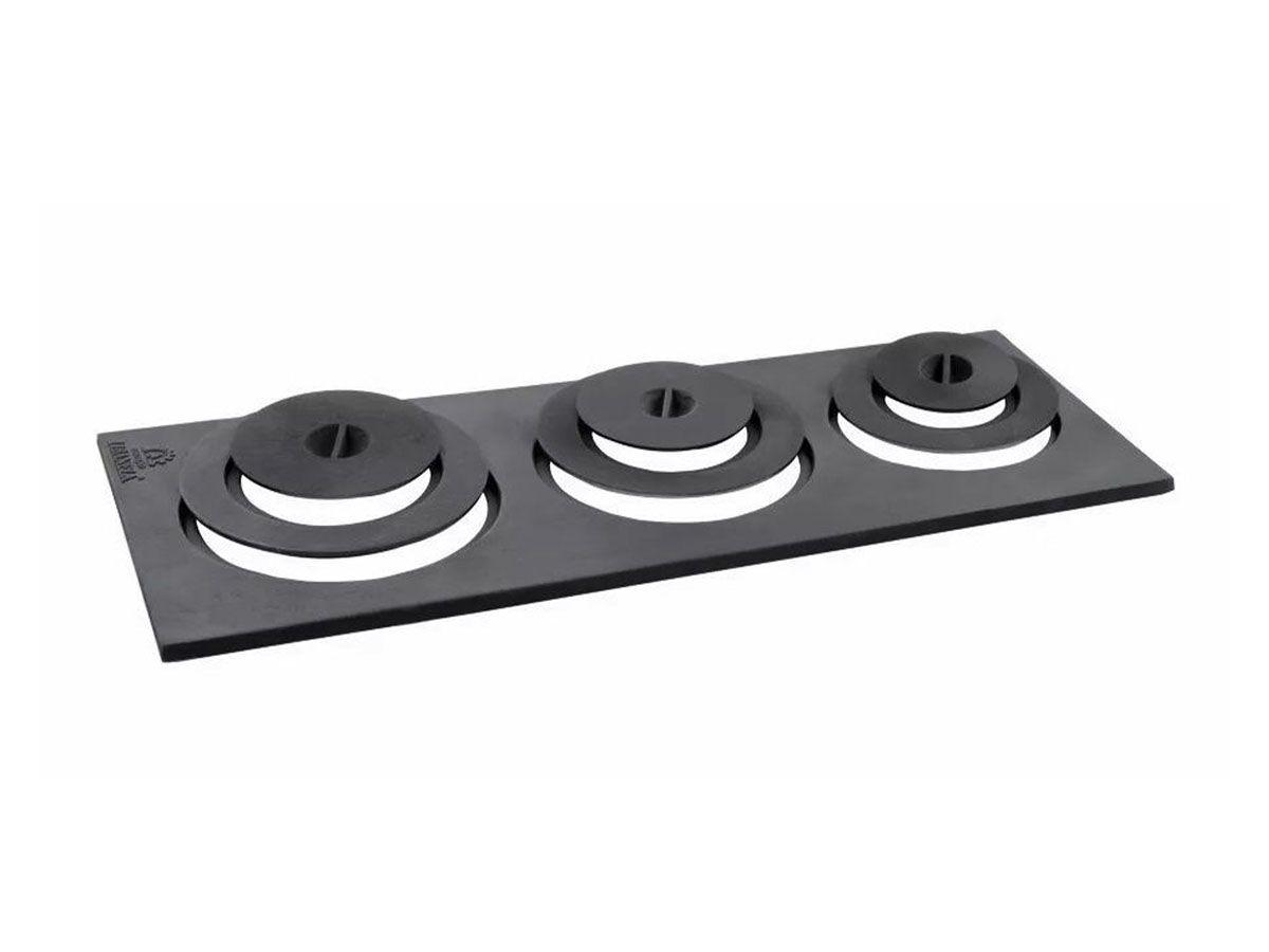 Chapa Redução Extra Fogão Lenha Libaneza 3 Furos 34x34x110cm  - Panela de Ferro Fundido