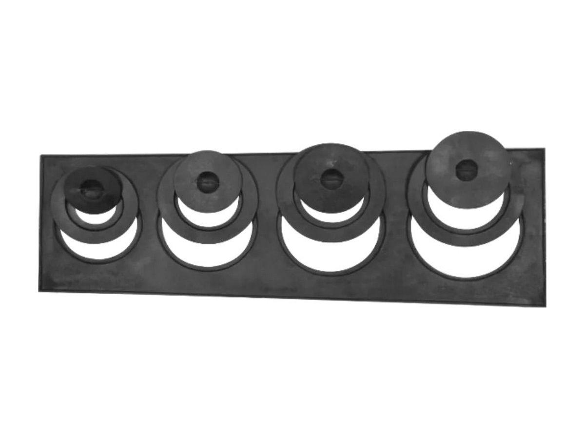 Chapa Redução Fogão Lenha 4 Furos C/ Tampa 30x100x35cm  - Panela de Ferro Fundido
