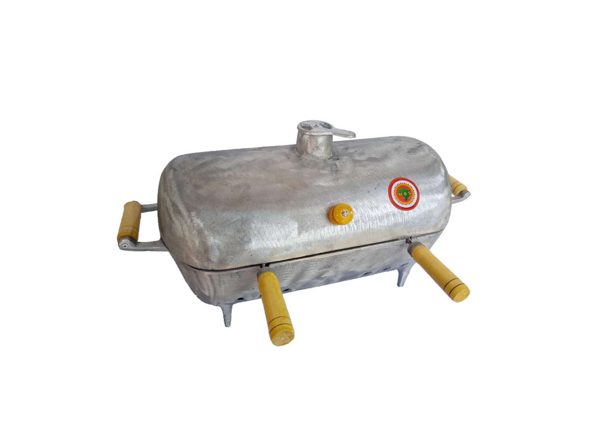 Churrasqueira Bafinho Alumínio Grande Redonda 50x27x27cm  - Panela de Ferro Fundido